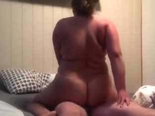 Bbw mistress rides my dick, when the wife is on business travel.