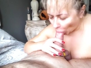 Maryna doing it all Sucking Licking Stroking