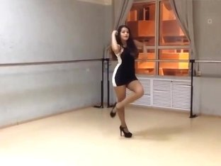 Girl in short dress dancing