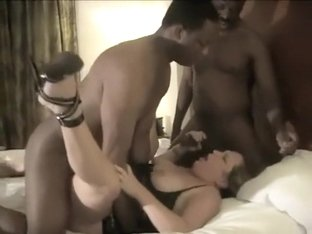 Thick charismatic wife is just thrilled to play with multiple Black Cock