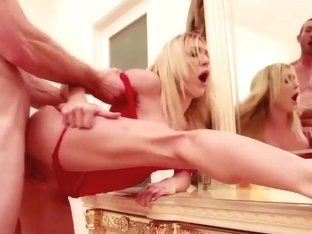 Crazy hot and active blonde Amy Brooke fucked hard by Jordan Ash