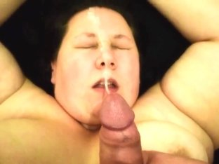 SSBBW Emma tied up, played with, fucked, and face covered in cum