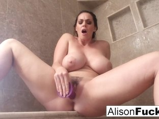 Alison Tyler in Alison Rubs Herself To Completion In A Giant Steamy Shower - AlisonTyler