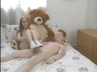Cute Nerdy Girl in glasses Footjob Shoejob