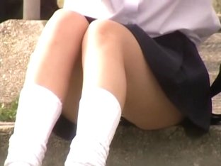Schoolgirls get on kinky man upskirt hidden camera dvd DTEN-01