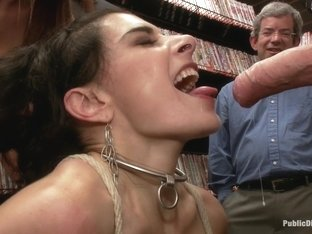 Hot MILF With Big Tits Gets Disgraced and Ass Fucked in Porn Store