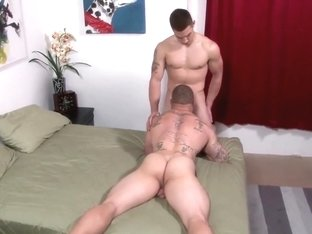 Straight army guys suck cock for the first time