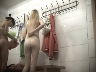 Naked girls in the female locker room