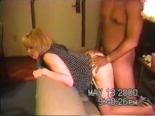 Sexy golden haired amateur wife got creampied by a horny black man