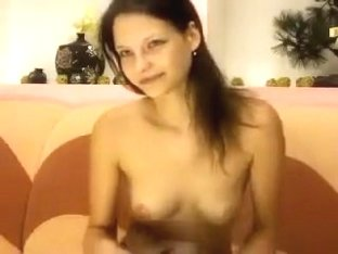 Modest and sweet Adel4U stroking her pussy
