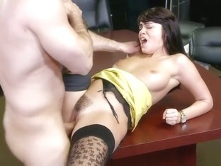 Ava Dalush Busty Beauty At Work