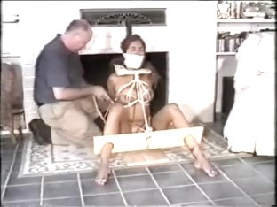 Agonizing attaching motion having a blindfolded sex slave t