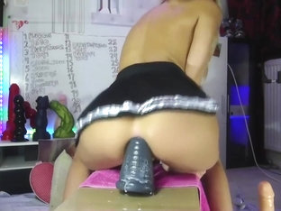 Anal training big toy