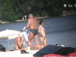 Young amateur nudist beach voyeur video