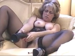 Hot Milf Slo-Mo Big Dildo Part 1