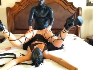 LATEX MASK FUCK ME EYES LOVES A COCK IN EVERY HOLE! POUNDPIE3
