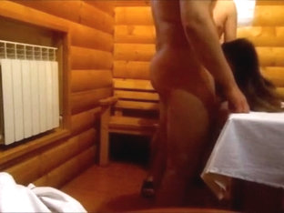 Nice threesome action in the sauna