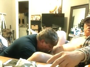 MARRIED BISEXUAL HUSBAND SUCKING ON MY ASIAN DICK...TASTY HE SAID. LOL !!!