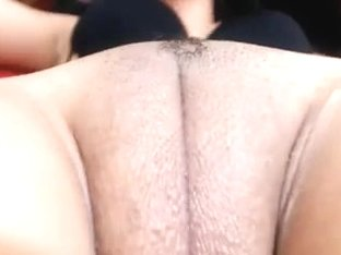 Big fat wet chubby shaved cameltoe pussy fingered