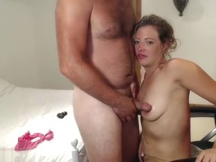A Mature Woman Massages The Cock