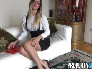 Leggy Hungarian Agent Mira Sunset Fucks British Client
