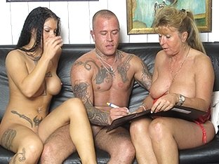 Petra Wegat in German Cougar teaches a young couple - MMVFilms