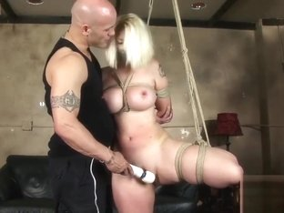 busty blond newbie tied and fucked hard 2