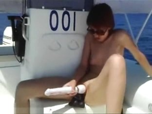 Hot Italian Chick Toys Her Clit On A Boat