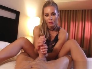 Nicole Uses Her Strong Grip And Oral Powers To Make Him Cum