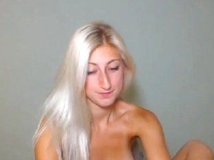 Cute Busty Blonde Teen Striptease