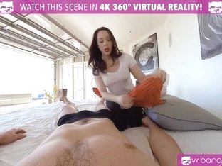 VRBangers.com Sexy Mom Teach Her Young Daughter How to Please Her Boyfriend
