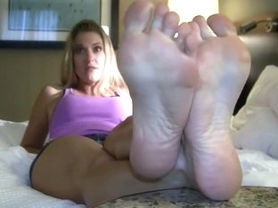 Blonde Girl with Sexy Feet