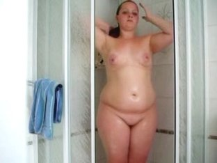 German bewitching gal in shower