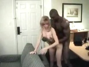 Aged White Lady Interracial Sex with Muscled Darksome Boy-Friend