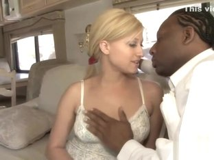 Raunchy Blonde Pleasures A Fat Black Dick