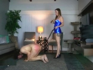 Goddess Harley whipping a Slave