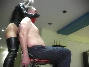 Intense beautiful red leather gloves over mouth