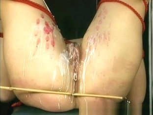 Waxing and caning a cunt