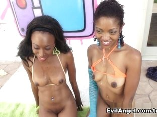 Incredible pornstars Brandi Foxx, Mark Wood, Lotus Lain in Exotic Threesomes, Interracial adult sc.