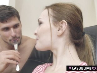 LaSublimeXXX Bella Claire gets Nutella and big cock on her first casting