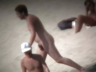 Nudist beach voyeur cannot get enough of a sexy blonde