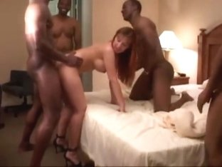 Gorgeous wife gangbang with bbc 1