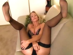 Hot milf lady simone in stockings joi