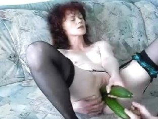 Hot fetish games with vegetables and rough masturbation