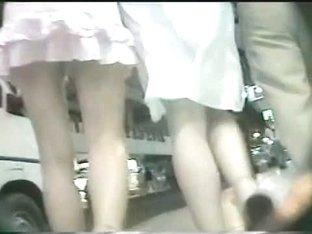 This upskirt babe gets a very good treat form this voyeur