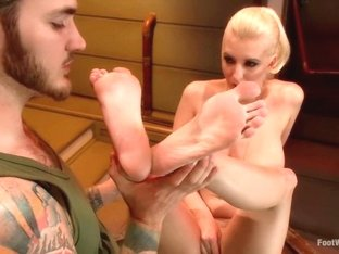 Best fetish sex clip with fabulous pornstars Christian Wilde and Cherry Torn from Footworship
