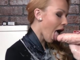 Bathroom smoke drenched in glory hole cum - see more at SmokeFetishCams.com