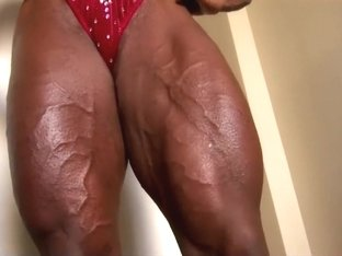 Impressive fbb in red bikini.
