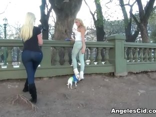 Angeles Cid in Photoshoot at the Park - AngelesCid