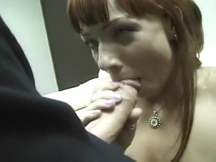 Cock Hungry Whore Gives Lick Filled Head